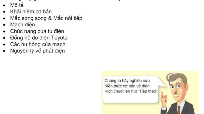 Các tài liệu điện ôtô tổng hợp của Toyota (tiếng Việt)