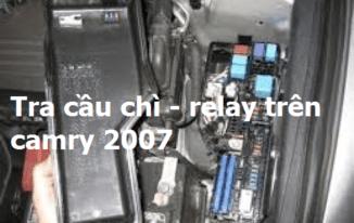 Bài 1: Tra cầu chì – relay trên xe