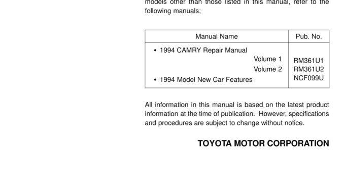 Tài liệu sơ đồ đấu dây (Electrical Wiring Diagram) một số dòng xe của Toyota